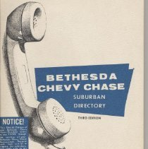 Image of 2007.19.01 - Bethesda Chevy Chase Suburban Directory (1964-1965)