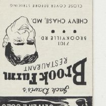 Image of 2007.72.10 - Matchbook Cover
