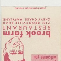 Image of 2007.72.11 - Matchbook Cover
