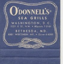 Image of 2007.74.08 - Matchbook Cover