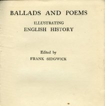 Image of 2007.74.13 - Ballads and Poems: Illustrating English History