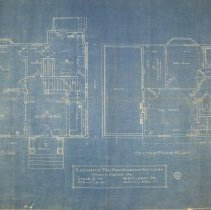 Image of 2008.04.21 - Blueprints of Residence for Miss Blanche Pattison