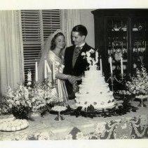 Image of 2008.118.08 - Benair Mills Titus and Elijah Titus II Cutting the Wedding Cake