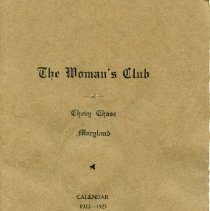 Image of 2008.201.06 - The Woman's Club of Chevy Chase Calendar