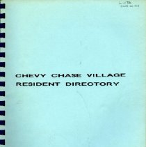 Image of 2008.20.105 - Chevy Chase Village Directory