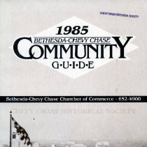 Image of 2008.20.86 - 1985 Bethesda-Chevy Chase Community Guide