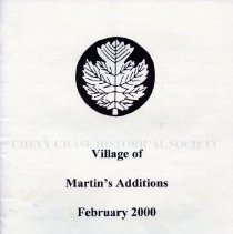 Image of 2008.20.87 - Village of Martin's Additions February 2000