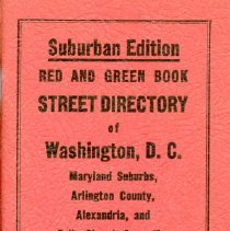 Image of 2008.33.01 - Red and Green Book Street Directory of Washington DC