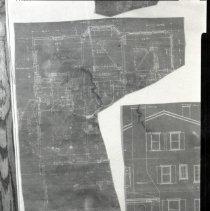 Image of 2008.379.06 - Blueprint of second floor of  6307 Broad Branch Road