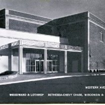 Image of 2008.61.03 - Postcard of Woodward & Lothrop Western Avenue Entrance