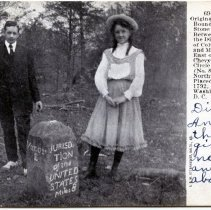 Image of 2008.70.04 - Postcard of Original Boundary Stone Between the District of Columbia and Maryland
