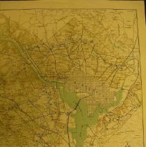 Image of 2009.1045.01 - Defenses of Washington, Extract of Military Map of N.E. Virginia