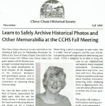 Image of 2009.1055.59 - CCHS Newsletter: 2005