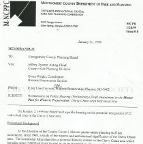 Image of 2009.1058.07 - Memo: Worksession on Public Hearing -- Master Plan for Historic Preservation, Chevy Chase