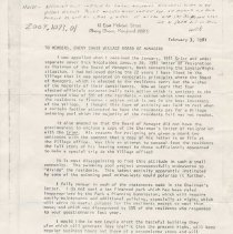 Image of 2009.1073.01 - Letter from William B. Gittens to Members, Chevy Chase Village Board of Managers