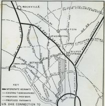 Image of 2009.1089.01 - Maps, news articles and other materials on the development of Maryland Route 240