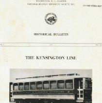 Image of 2009.1094.01 - Historical Bulletin: The Kensington Line