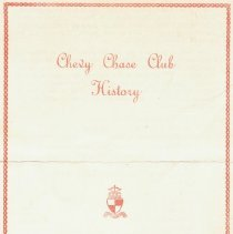 Image of 2009.1097.01 - Chevy Chase Club History