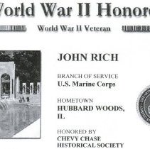 Image of 2009.1102.78 - WWII: Chevy Chase Remembers, John Rich