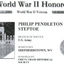 Image of 2009.1102.88 - WWII: Chevy Chase Remembers, Philip P. Steptoe