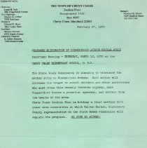 Image of 2009.1103.01 - Notices for Section Four from The Town of Chevy Chase, 1969-1975