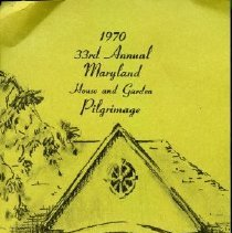 Image of 2009.2013.05 - Notes about 1970 Maryland House and Garden Pilgrimage
