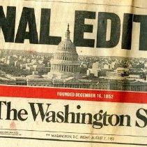 Image of 2009.2057.01 - The Washington Star: Final Edition