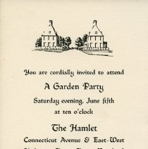 Image of 2009.2086.136 - Invitation to a garden party at the Hamlet