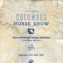 Image of 2009.2092.02 - Catalogue of Tenth Annual Columbus Horse Show