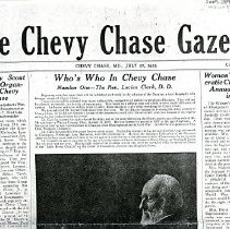 Image of 2009.2093.40 - The Chevy Chase Gazette, July 27, 1923