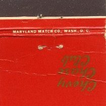 Image of 2010.09.02 - Matchbook Cover
