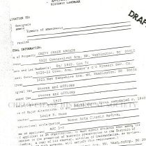 Image of 2010.1034.01 - Application for historic landmark designation of Chevy Chase Arcade