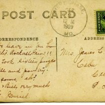 Image of Postcard from Muriel C. Corby