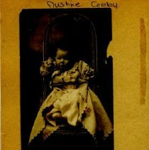 Image of Justine Corby as infant and with grandparents