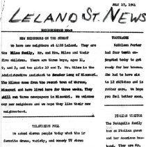 Image of 2010.1062.01 - Leland Street News