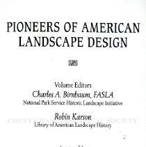Image of 2014.13.01 - Pioneers of American Landscape Design