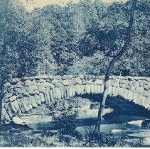 Image of 500.02.13 - Bridge in Rock Creek Park with title on back of card