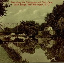 Image of 500.02.33 - View along the Chesapeake and Ohio Canal, Chain Bridge