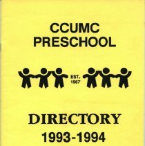 Image of 500.05.06 - CCUMC Preschool Directory, 1993-94