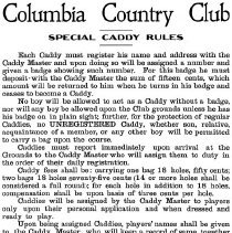 Image of 500.13.02 - Columbia Country Club Special Caddy Rules