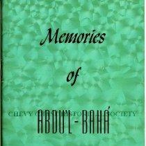 Image of 2014.31.15 - Memories of Abdu'l Baha'