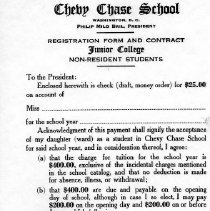 Image of 500.14.12 - Registration Form for Chevy Chase School