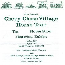 Image of 500.18.03 - Flyer for the 14th Annual Chevy Chase Village House Tour