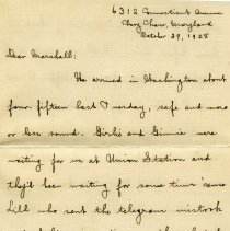 Image of 500.23.11b - Letter from Mrs. A.L. Robinson to James Marshall Robinson