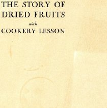 Image of 500.29.20 - The Story of Dried Fruits with Cookery Lesson