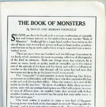 """Image of """"The Book of Monsters"""" advertisement, panel 2"""