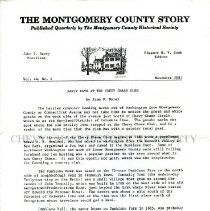 Image of The Montgomery County Story, November 2001