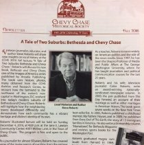 Image of 2016.04.03 - Chevy Chase Historical Society (CCHS) Newsletter