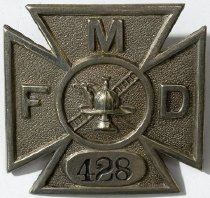 Image of Badge, Fire - 00.2423