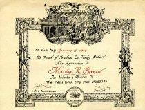 Image of Certificate, Commemorative - 2012.0052